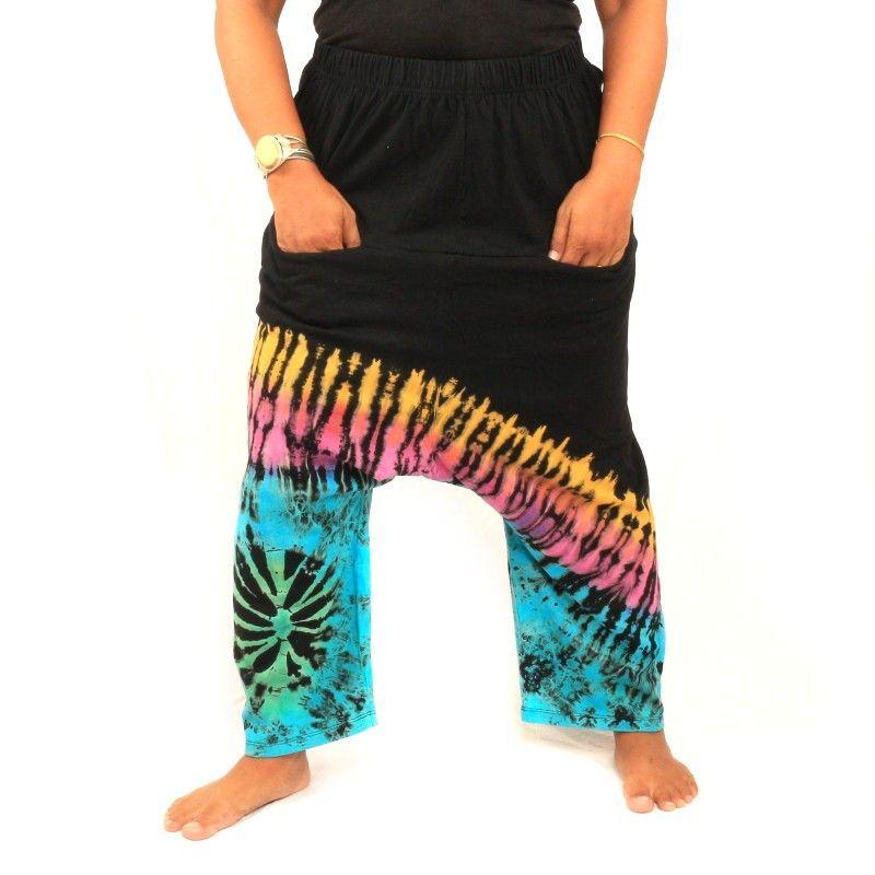 Hippie tie-dye pants