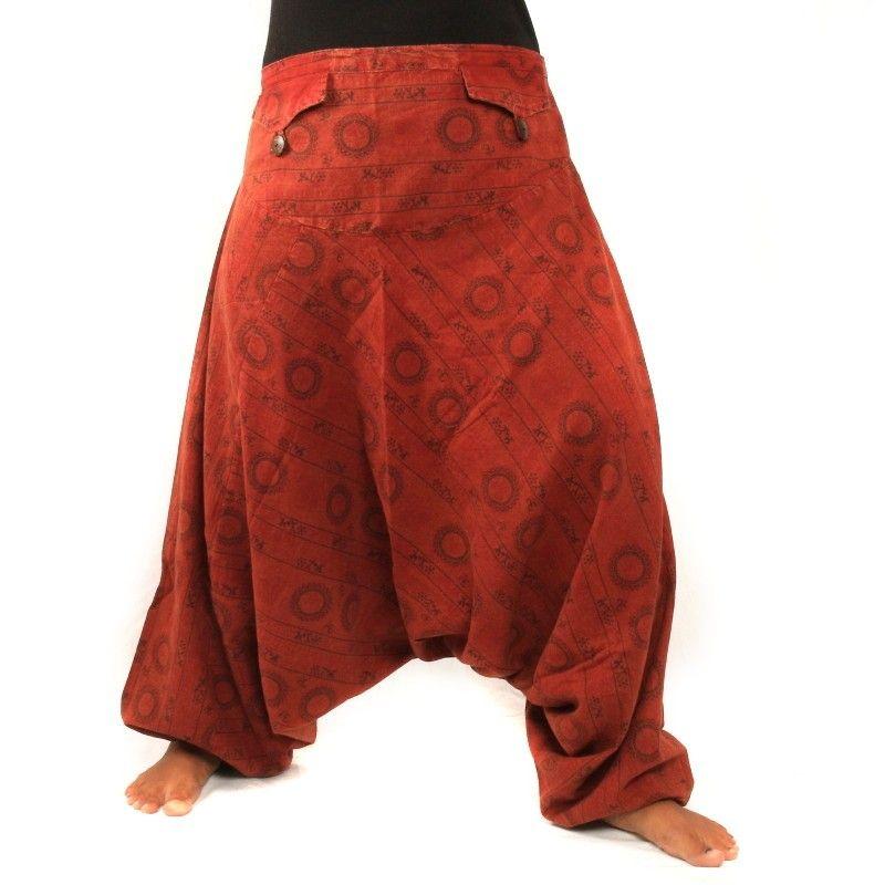 Harem pants om sanskrit cotton