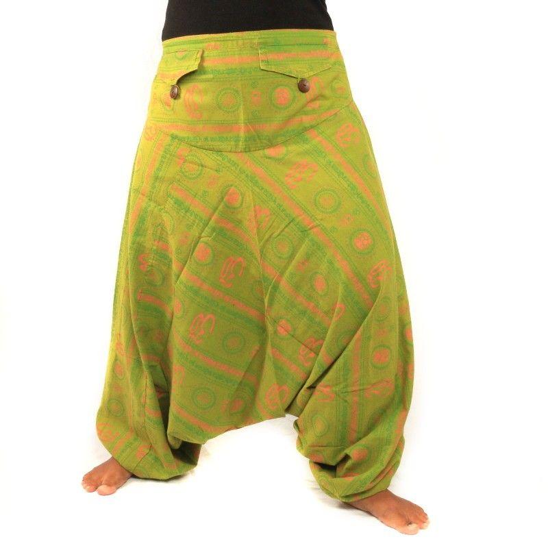 Aladinhose Om Sanskrit Baumwolle