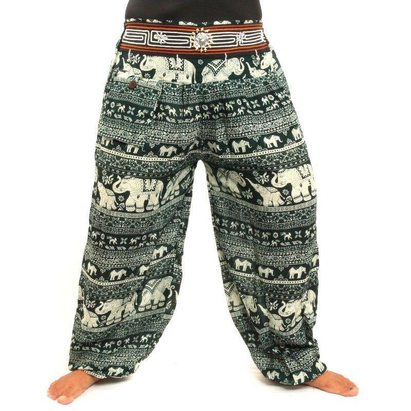 pantalones harén rayón