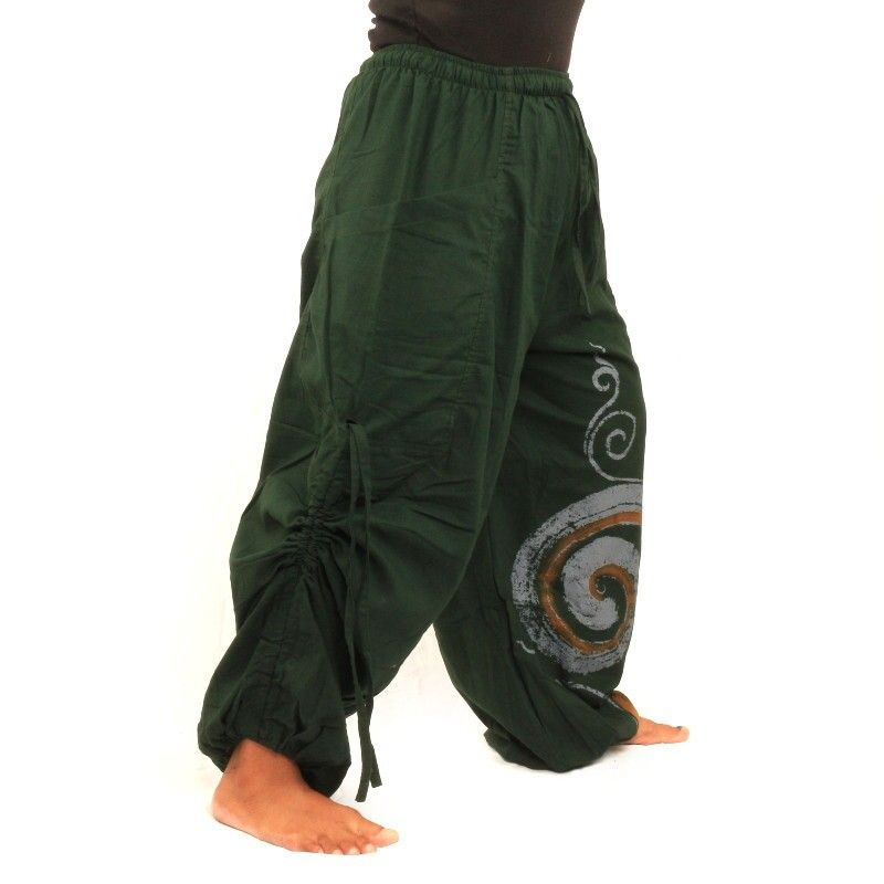 Thai hippie pants spiral pattern