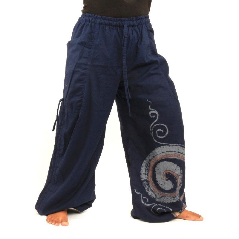 Thai Pants spiral pattern
