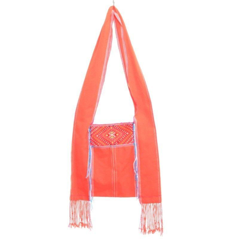 Bolso de hombro bordado algodón - mano de obra
