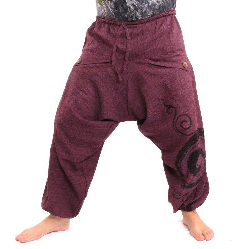 pantalones harén Boho Chic - magenta