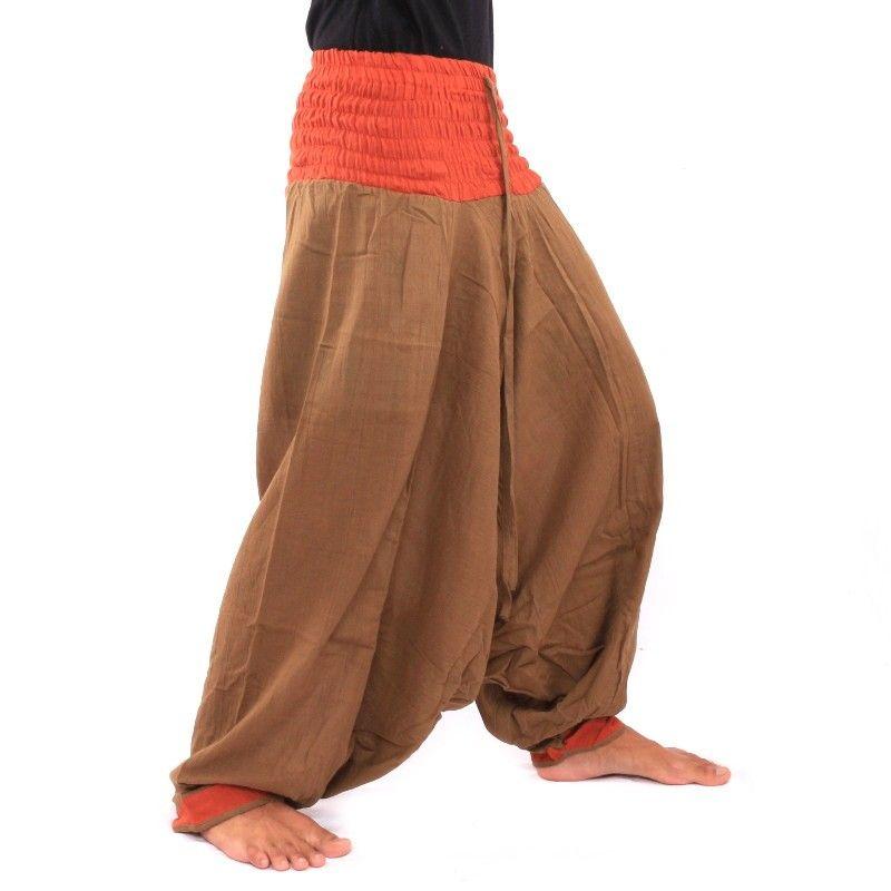 Pantalón de Aladdin - Braun/naranja