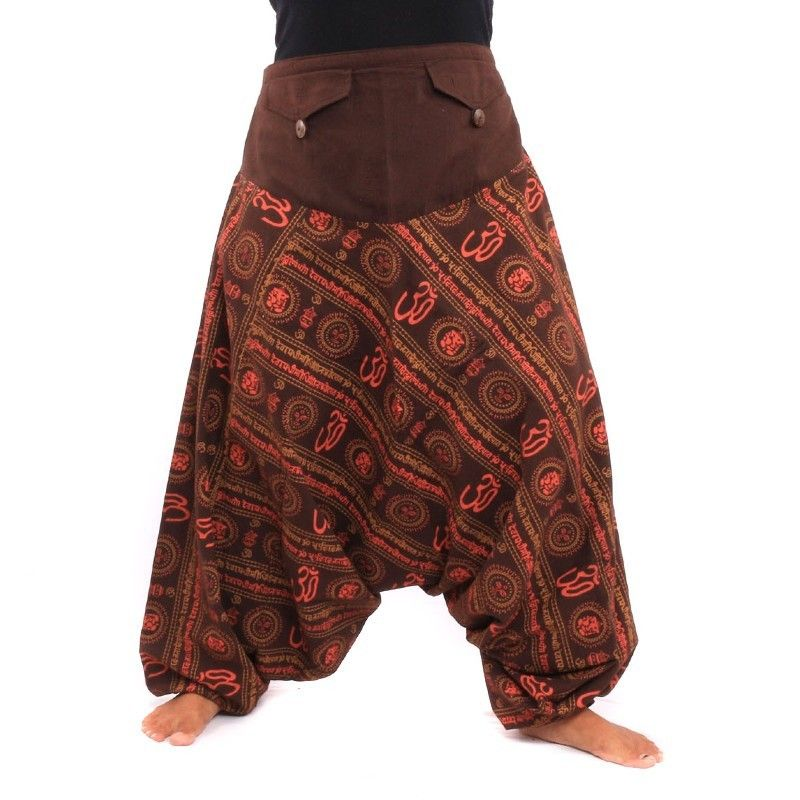 Harem pants om sanskrit cotton