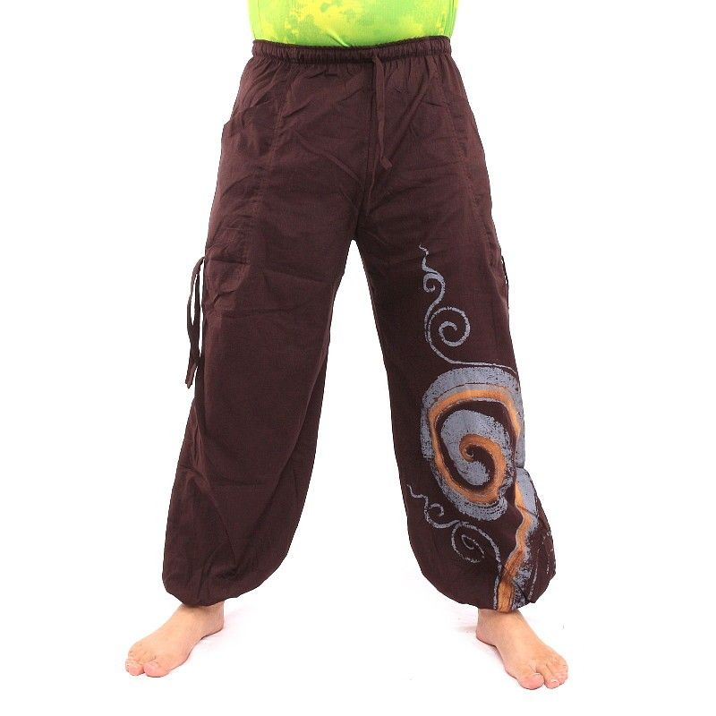 Thai Pants spiral pattern