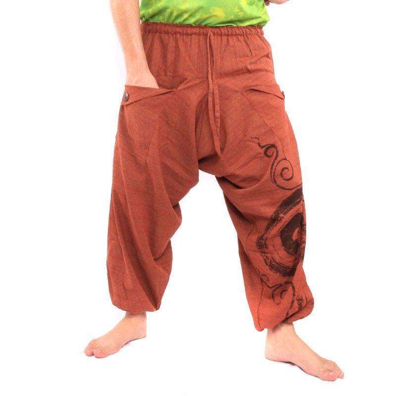 pantalones harén Boho Chic - naranja
