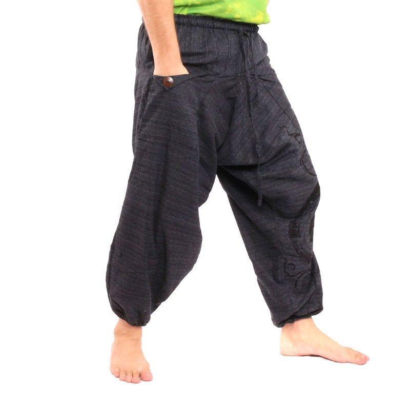 pantalones harén Boho chic - negro