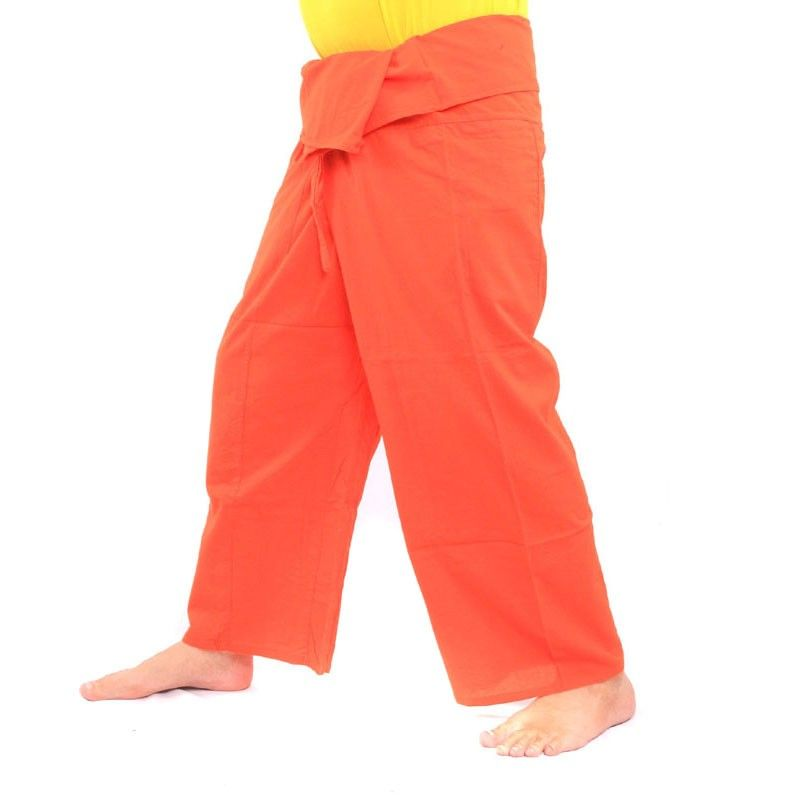 Thai fisherman pants - orange - cotton