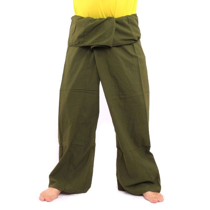 Thai Fisherman pants - green- extra long- cotton