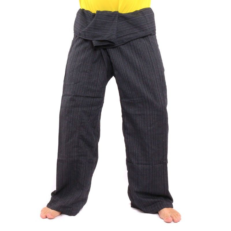 Envuelva pantalones Cottonmix extra larga - negro