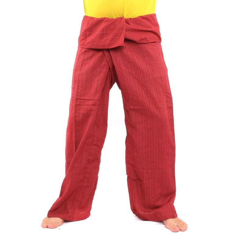 Envuelva pantalones Cottonmix extra largo - rojo