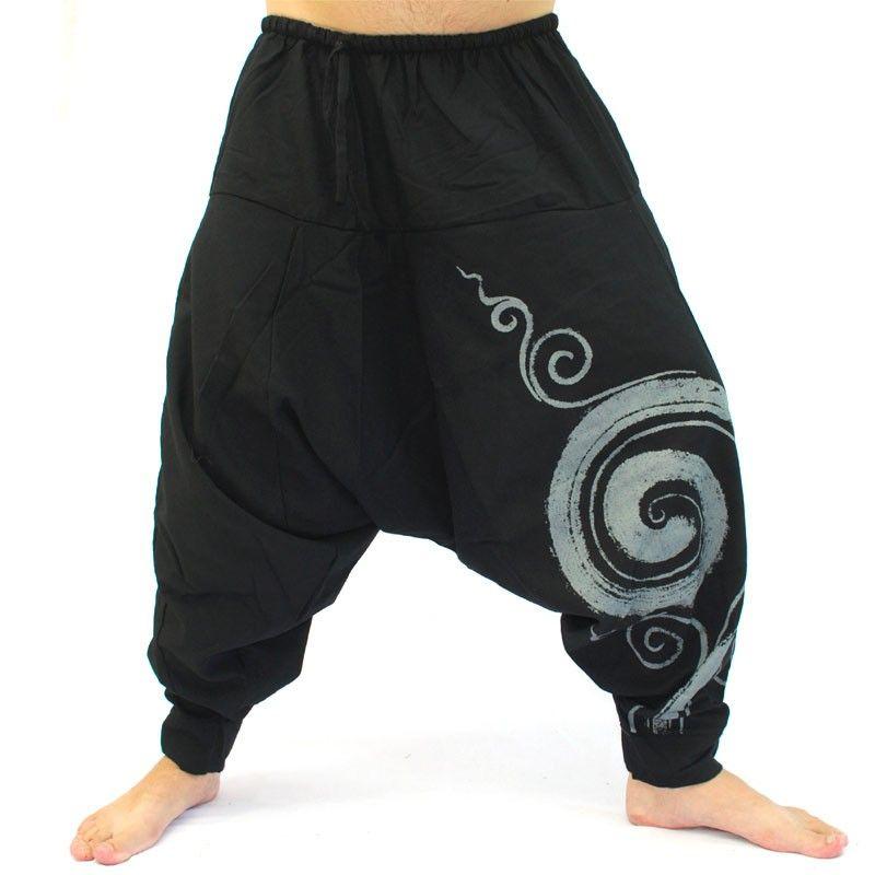 Pantalones harem pantalones holgados negros