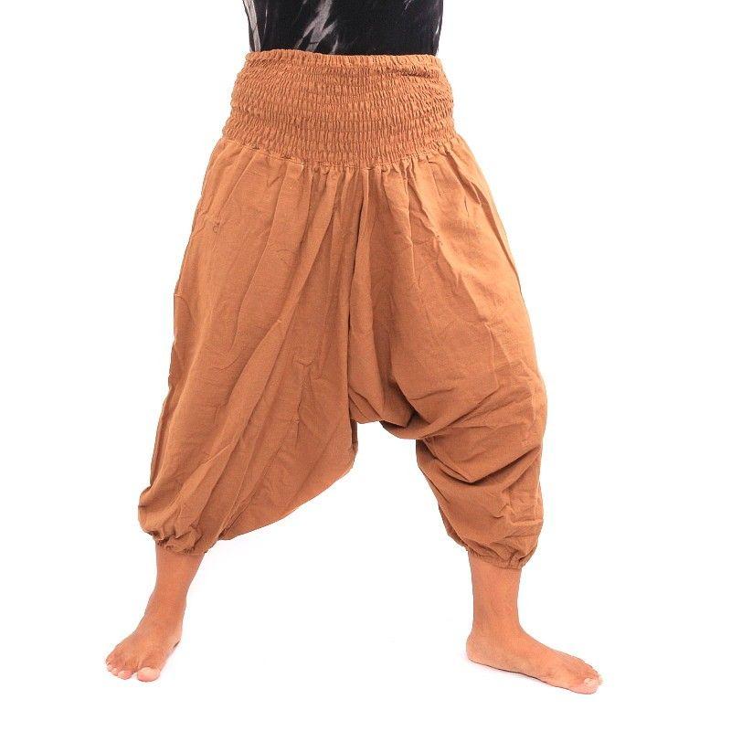 3/5 pantalones de harén de algodón