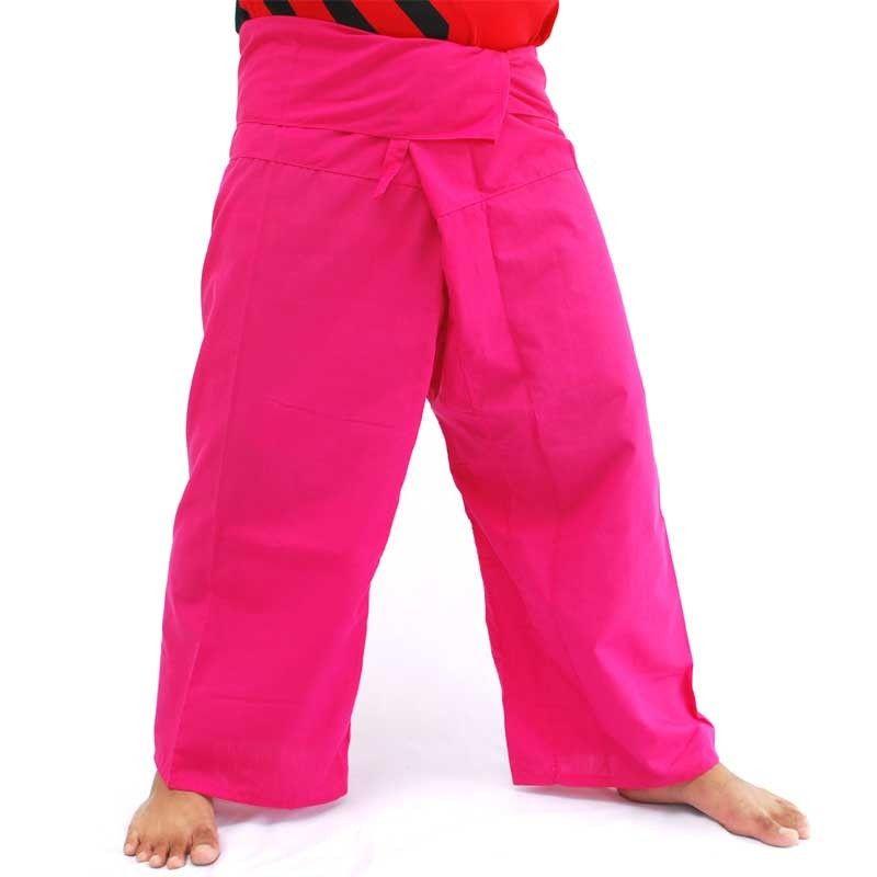 Pantalones de pescador tailandés - magenta