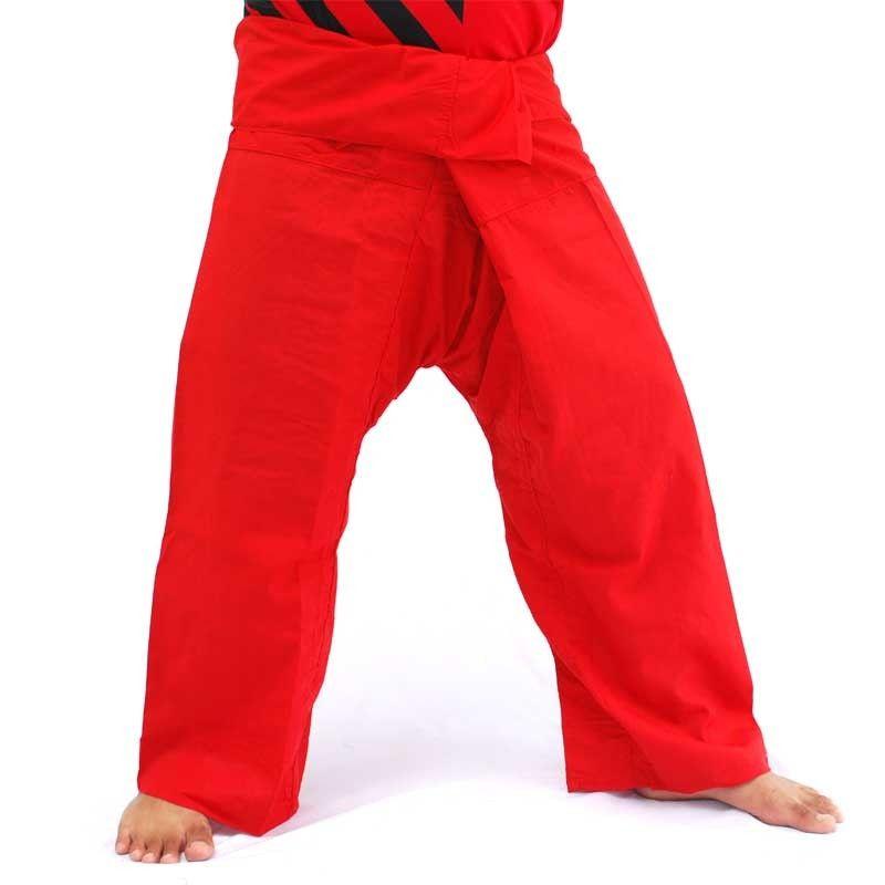 Pantalón pescador tailandés - rojo