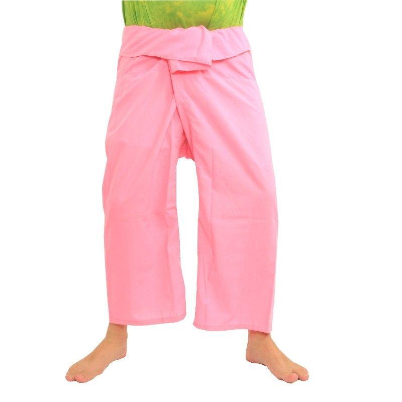 Pantalón pescador tailandés viscosa - rosa