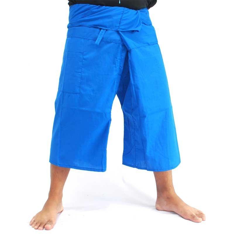Pantalones de pescador tailandés SanSan Sii Nam Ngon 3/4 de Toolee Sky Blue