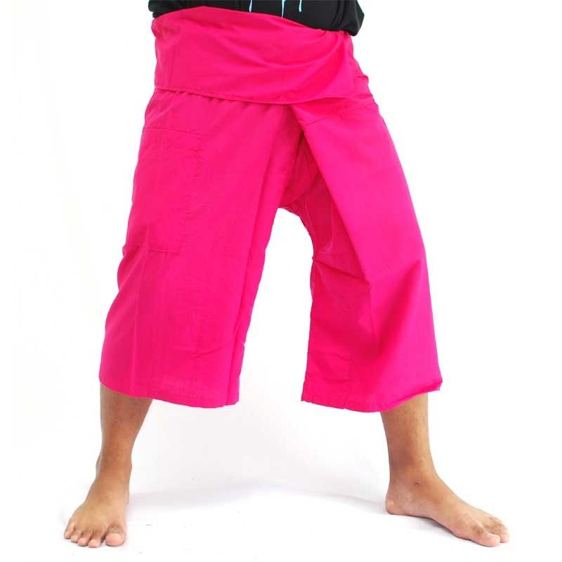 Toolee San Sani Magenta 3/4 pantalones de pescador tailandés
