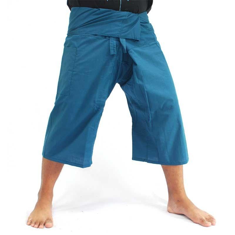 Toolee San San Faa 3/4 pantalones pescador tailandés azul