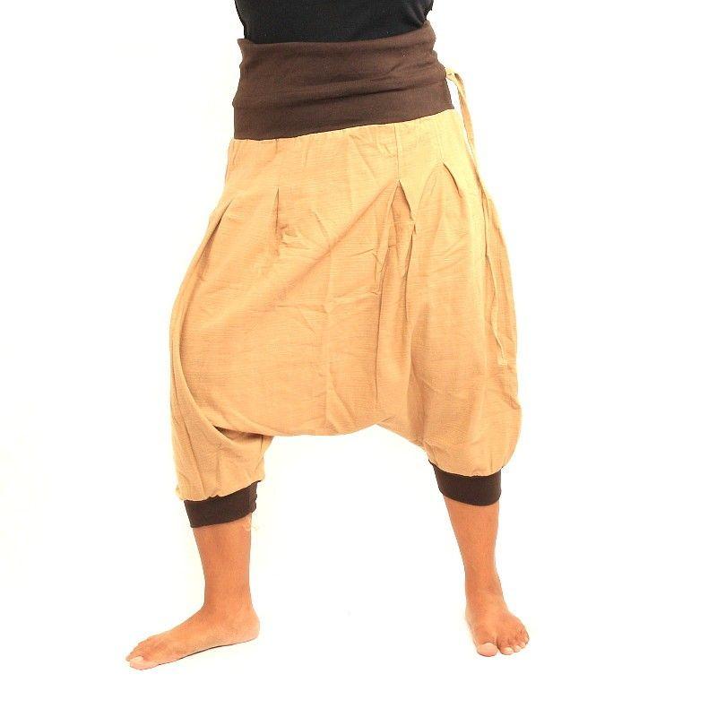 3/4 Aladdin - caqui / marrón con dos bolsillos traseros