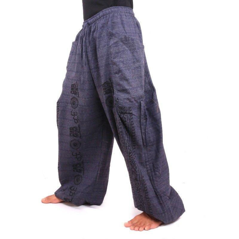 pantalones tailandeses para atar aplicación Etno Cottonmix