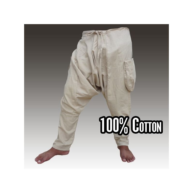 pantalones harén - Algodón - Caqui