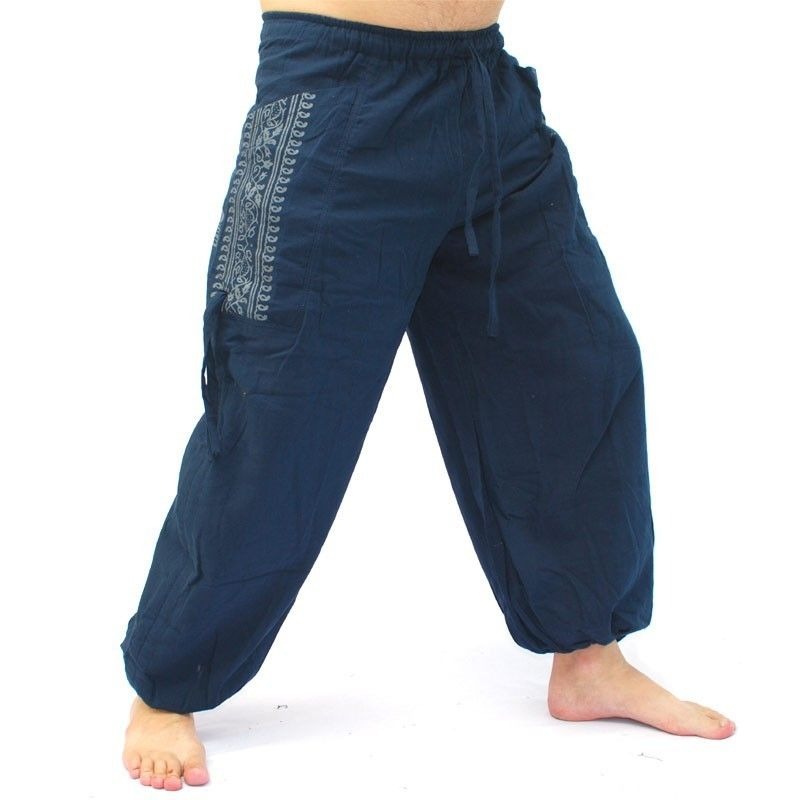 Thai hippie pants for tying Ethno application made of heavy cotton