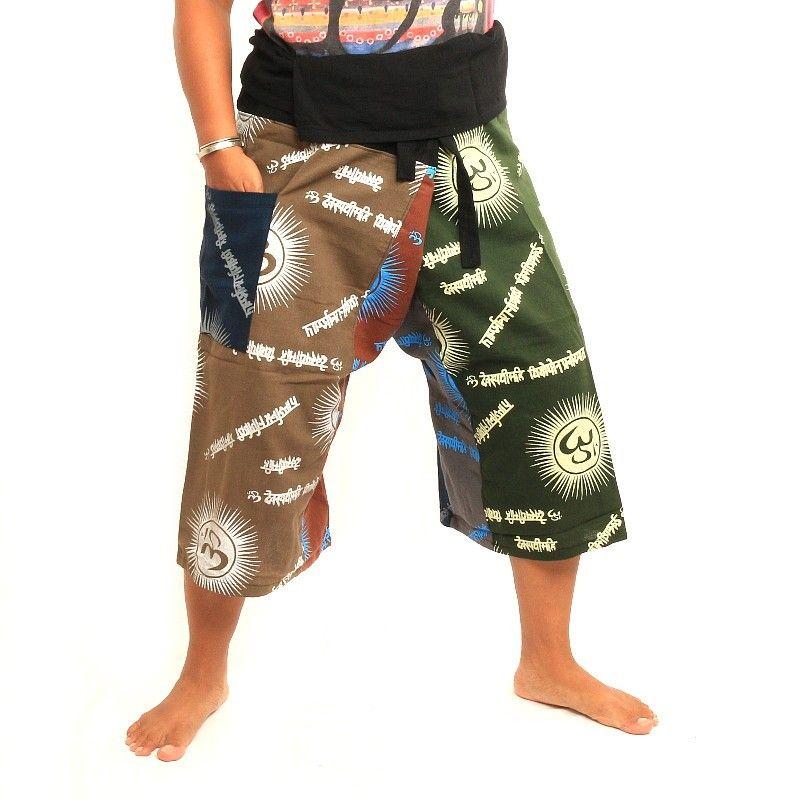 3/5 Pescadores tailandeses pantalón OM Goa - algodón