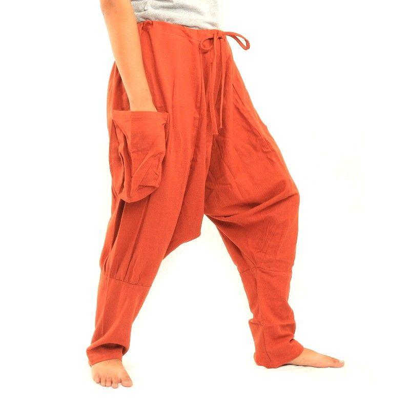 Sarouel Pantalones - Algodón - Orange