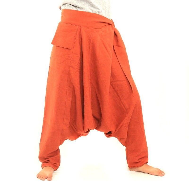 Bombacha - con el bolsillo pequeño en el lado para enlazar a naranja oscuro