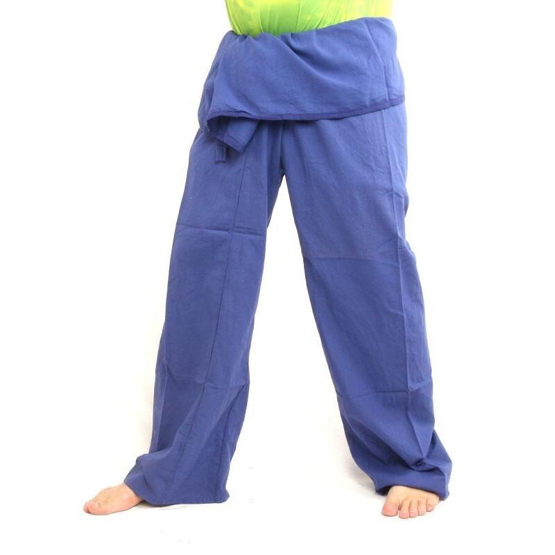 Thai Fisherman Hose extra lang- Baumwolle blau CTX-Long11 67fc717b3a