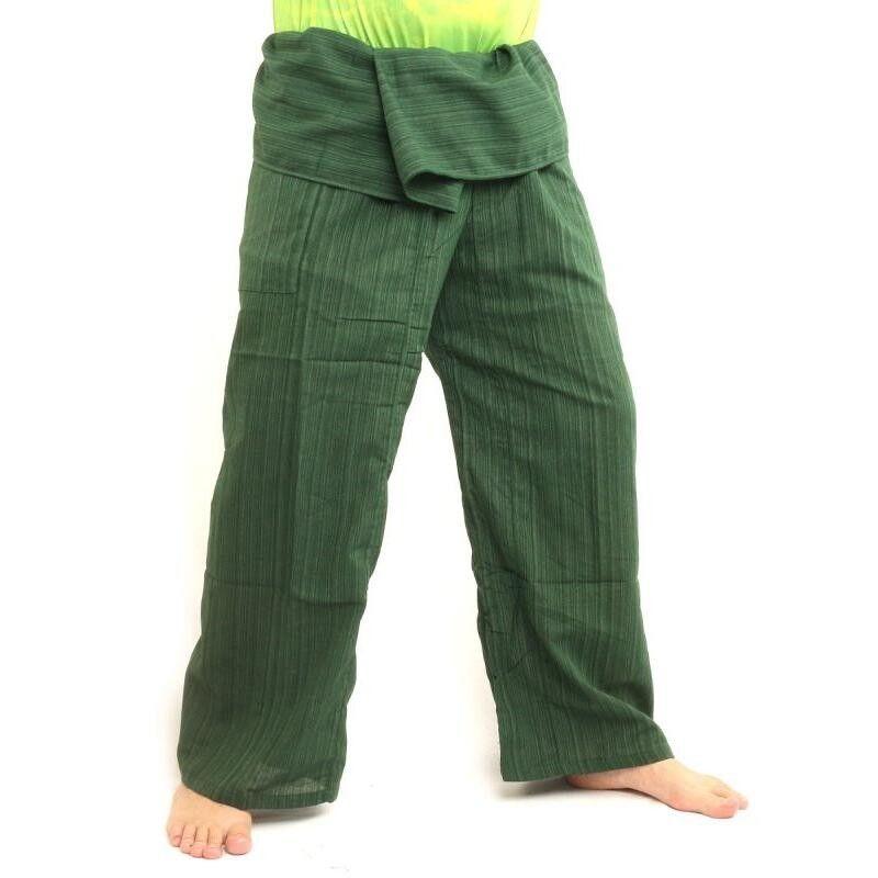 Pantalón de pescador tailandés Cottonmix extra largo - verde