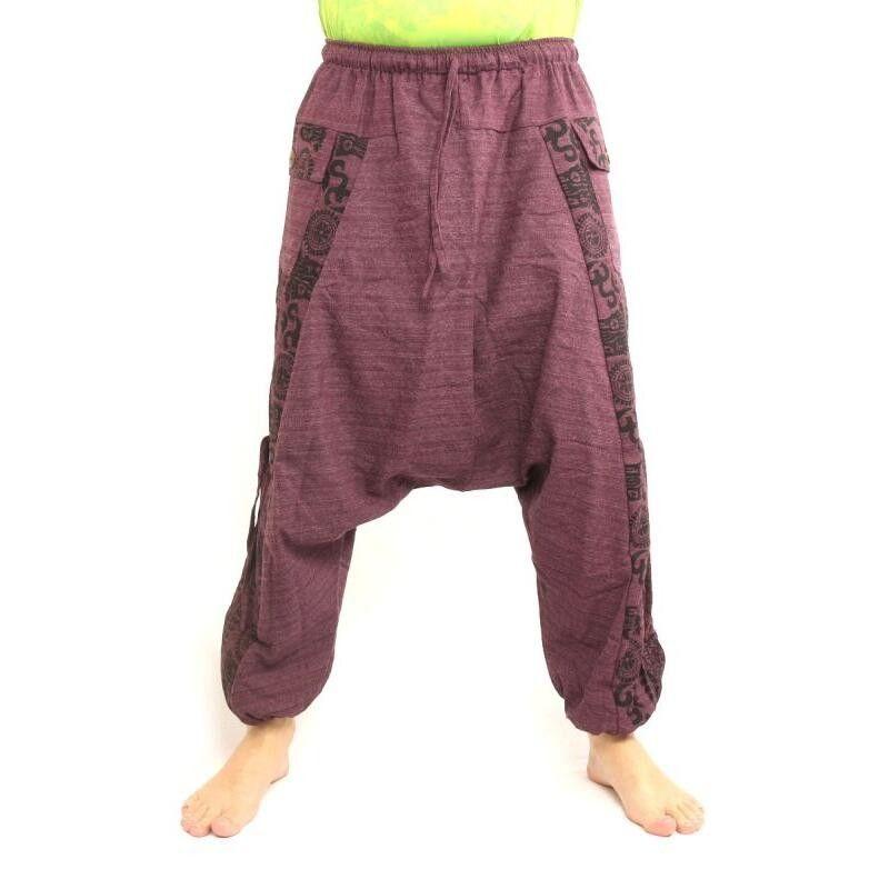 Pantalones harem Pantalones holgados con estampado floral - Magenta