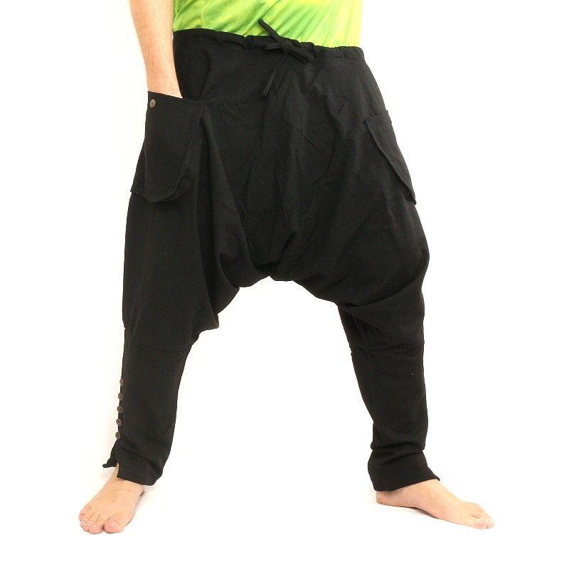 Harem pants - cotton - black