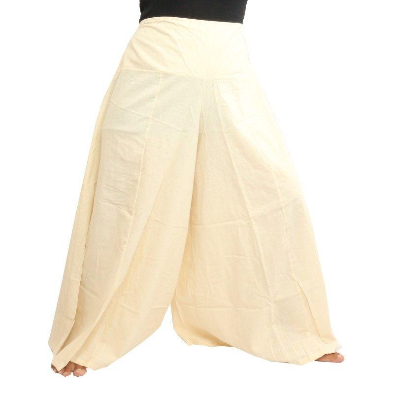 Algodón sin teñir pantalones de Samurai