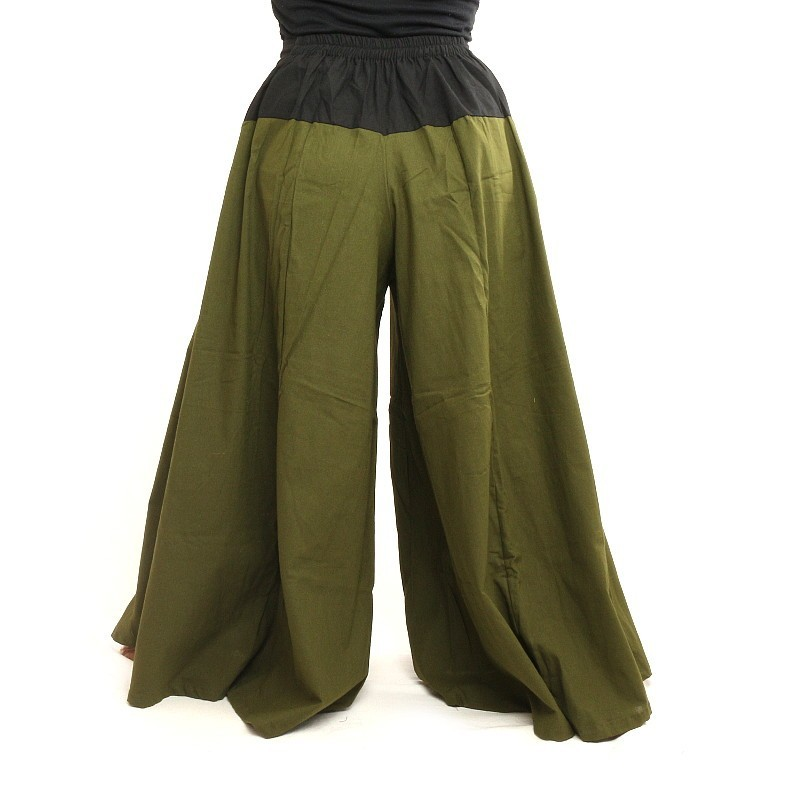 samurai pants cotton dark olive green smr21