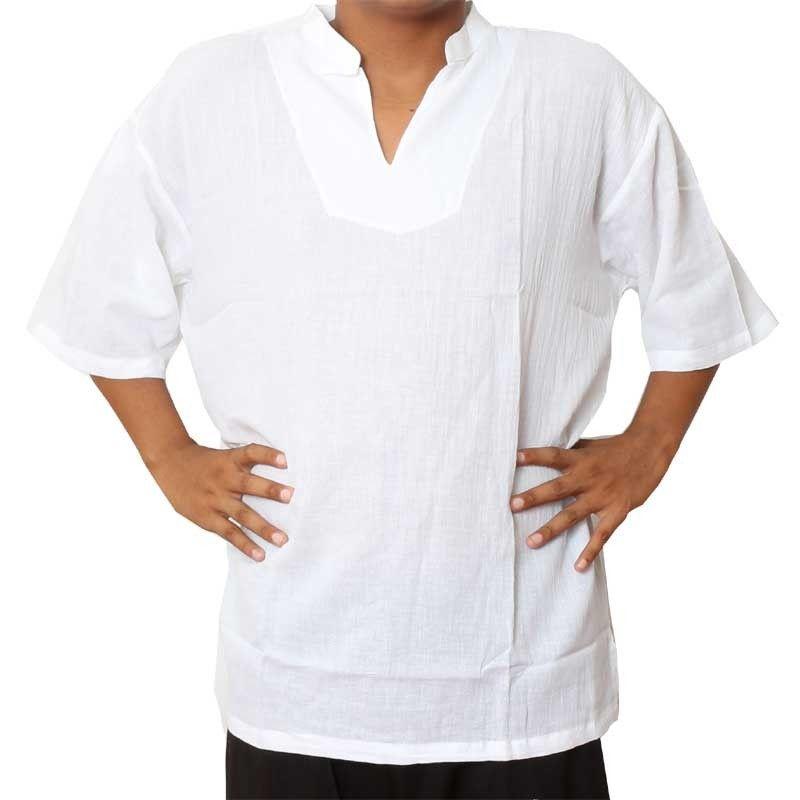 Razia Moda - Fácil camisa de algodón tailandés blanco tamaño XXL