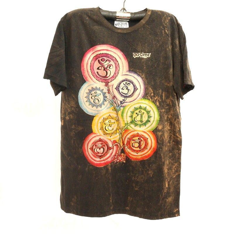 """""""No hay tiempo"""" camiseta talla L lavado a la piedra"""