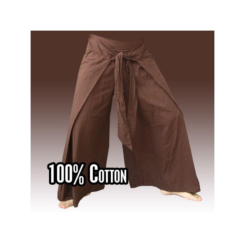 Envuelva los pantalones en el estilo chino, Brown