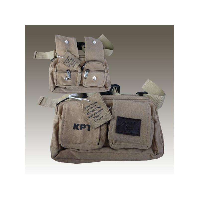 Cinturón de Ka Pao Tung Belt bolsa/dinero verde
