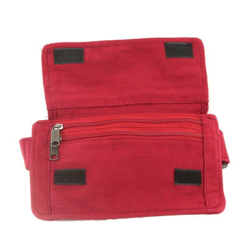Cinturón de correa o giro de dinero Ka Pao Tung rojo