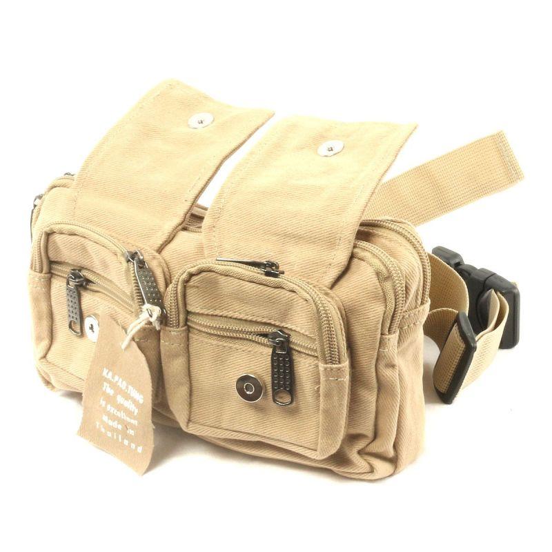 Ka Pao Tung - cinturón bolsa/dinero cinturón beige