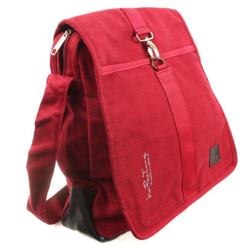 Ka Pao Tung large shoulder bag - Burgundy Red