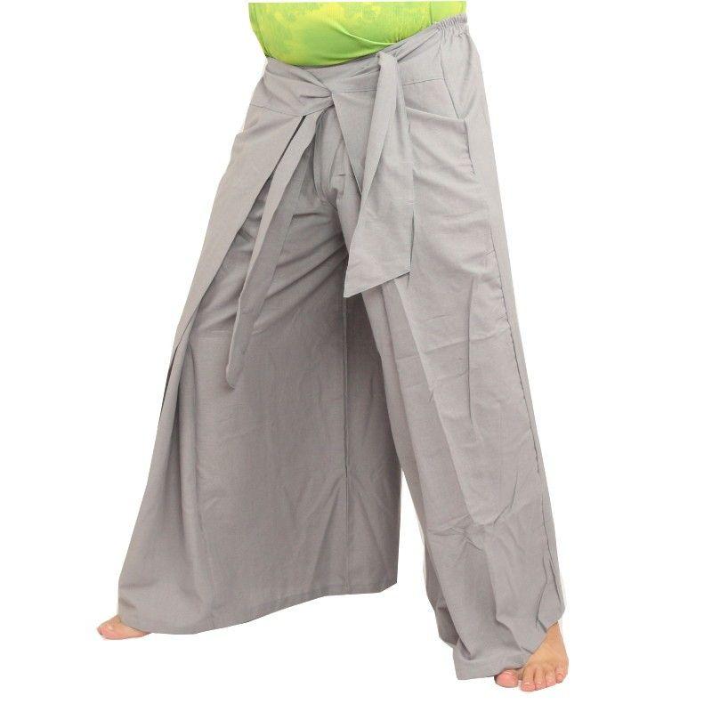 Envuelva los pantalones en el estilo chino, gris