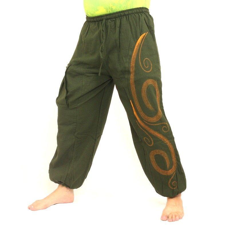 pantalones tailandeses para atar patrón de Tíbet