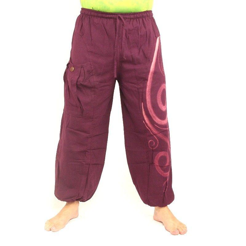 Pantalones Chiller florecen patrón morado