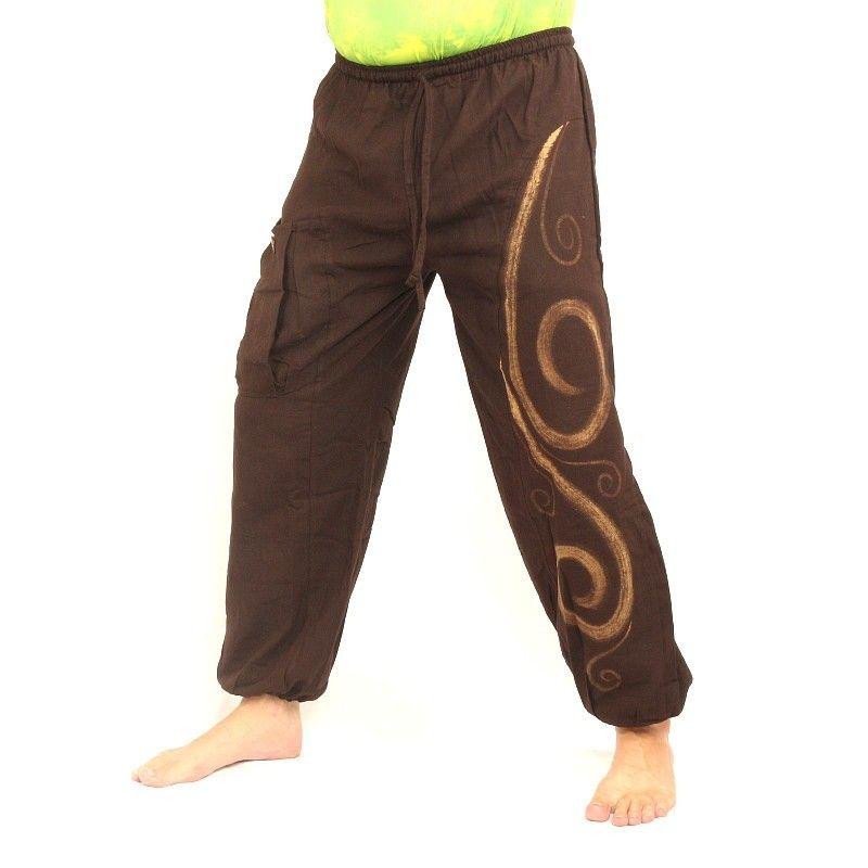 Chiller pantalones patrón marrón
