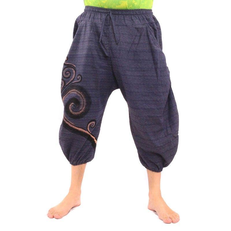 5,3 Saruelhose con grandes bolsillos laterales hechos de algodón pesado